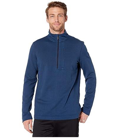 Smartwool Merino Sport Fleece 1/2 Zip (Alpine Blue Heather) Men