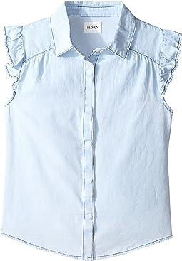 Chambray Ruffle Shirt (Big Kids)