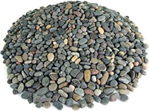 Mexican Beach Pebbles | 20 Pounds of Smooth Unpolished Stones | Hand-Picked, Premium Pebbles for Garden and Landscape Design | Mixed, 3/8 Inch
