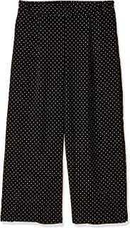 ONLY Women's Lima Polka Dot Casual Pants in Black, 42 EU (Manufacturer Size:XL)