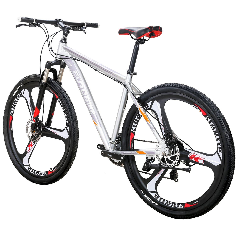 Eurobike EURX9 Bicicleta de montaña 21 velocidades 3 radios 29 Pulgadas Ruedas Freno de Disco Dual Marco de Aluminio MTB Bicicleta: Amazon.es: Deportes y aire libre