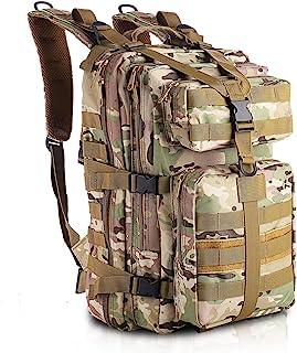 Mochila Militar, Mochila táctica 35L Mochila del ejército MOLLE Mochila de Asalto Mochila de Combate táctica para Senderismo al Aire Libre Camping Trekking Pesca Caza