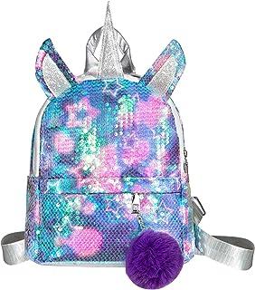 Mochila de Unicornio, Mochila Escolar para niña, Mochila de Lentejuelas, Mochila de Viaje,Mochila de Moda Cute Glitter Girl,Mochila de Lentejuelas para Niñas
