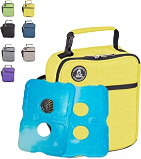 Healthy Packers Insulated Lunch Box for Adults and Kids w/ 2 Slim Long Lasting Ice Packs - Professional Work Lunch Bag for...