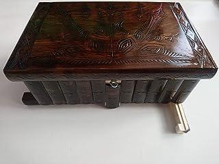 Gigante gran caja de puzzle rompecabezas de color marrón chocolate, caja mágica joyero tallado en madera con decoración de...