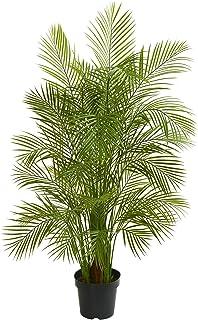 MISC グリーンアレカ ヤシの木 人工植物 トロピカルインドア ヤシの木 花 ディプシス ルテスケンス 植物アレケア 蝶 ヤシの木 ゴールデンケイン 5.5-フィート トラディショナルブラックブラウン ポリエステル