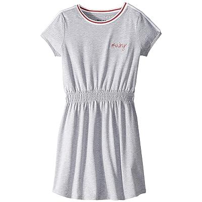 Maddie by Maddie Ziegler Knit Dress w/ Embroidered Detail (Big Kids) (Grey) Girl