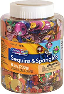 Creativity Street Sequins & Spangles Jar, Assorted Colors and Sizes, 230 Grams