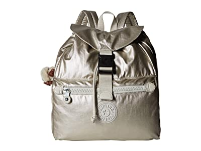 Kipling Keeper Backpack (Cloud Grey Metallic) Backpack Bags