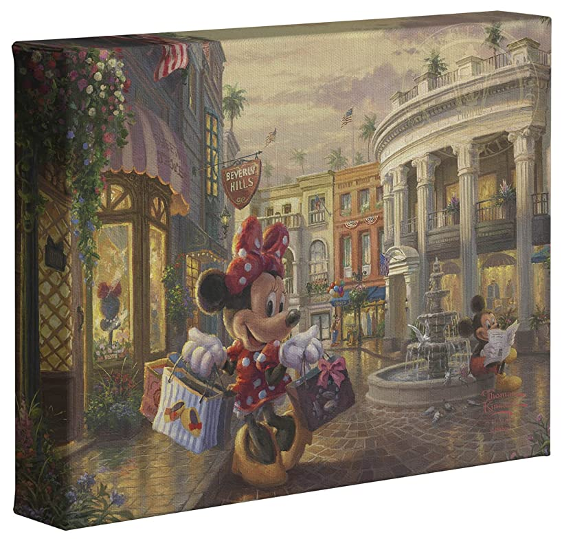 Thomas Kinkade Studios Minnie Rocks the Dots on Rodeo Drive 8 x 10 Gallery Wrapped Canvas