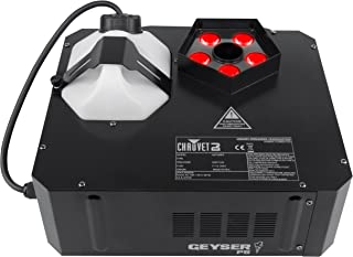 Chauvet DJ Geyser P5 RGBA+UV LED Pyrotechnic-Like Effect Fog Machine with 1 Year EverythingMusic Extended Warranty Free