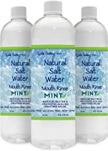 SAVE over 15%, 3 PACK, Natural Salt Water Rinse, MINT, with Hand Mined Pink Himalayan Sea Salt, Holy Basil, Oil of Oregano
