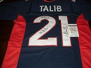 Signed Aqib Talib Jersey - 5x Pro Bowl Sb 50 Champ Blue coa - JSA Certified - Autographed NFL Jerseys