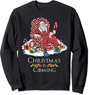 Christmas Is Coming Candy Cane Throne Gifts funny GOT Parody Sweatshirt