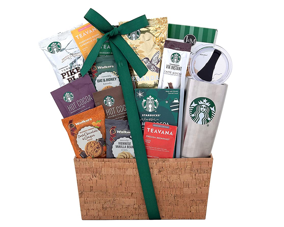 Starbucks Coffee and Teavana Tea Extravagant Gift Basket. A Succulent and Delectable Gift Idea For Birthday, Baby Shower, Holiday Gift or as a Corporate Gift. trcexxxh6