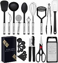 HomeHero Kitchen Utensil Set - 23 Nylon Cooking Utensils - Kitchen Utensils with Spatula - Kitchen Gadgets Cookware Set - ...