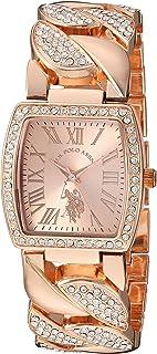 U.S. Polo Assn. Women's Analog Quartz Watch with Alloy Strap, Rose Gold, 21 (Model: USC40204AZ)