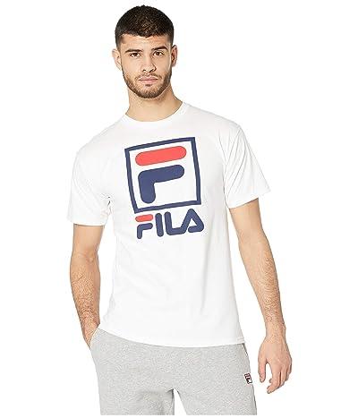 Fila Stacked T-Shirt (White/Navy/Red) Men