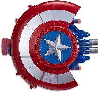 Marvel AVENGERS - Captain America - NERF Elite Blaster with Shield - Super Hero Dress Up - Kids Toys & Outdoor Games - Ages 8+