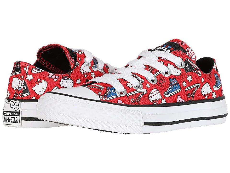 Converse Kids Hello Kitty(r) Chuck Taylor(r) All Star(r) Ox (Little Kid) (Fiery Red/Black/White) Girls Shoes