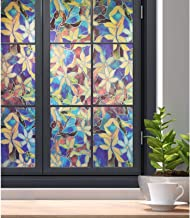 Glasfolie Stained Glass Window Film Privacy Static Cluling Decoratief Glas Film Patroon Venster Dekking Blackout Film Verv...