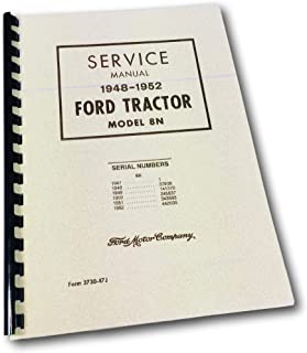 1948-1952 Ford Tractor Model 8N Reprint Service Manual