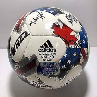 2018 FC Dallas Signed Adidas Match Soccer Ball Replica Nativo Top Glider 17 Autographs (The Cowboy House COA)