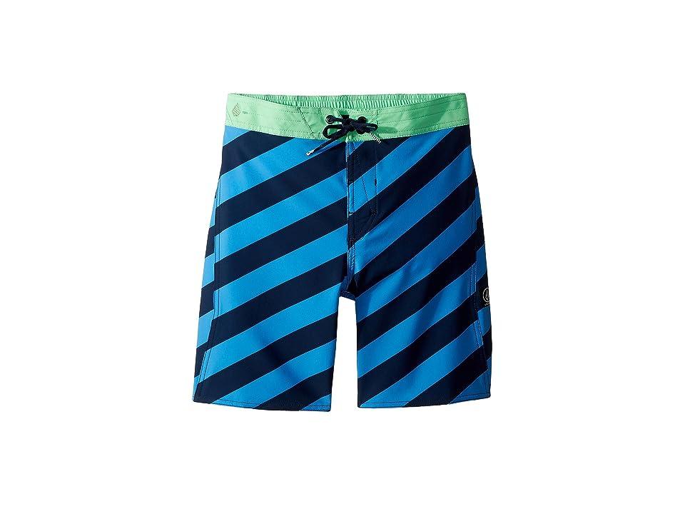 Volcom Kids Stripey Elastic Boardshorts (Little Kids/Big Kids) (Indigo) Boy
