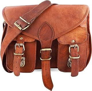 mPelle Handmade Women Shoulder Bag Vintage Rustic Retro Style Genuine Brown Leather Cross body Travel Handmade Purse