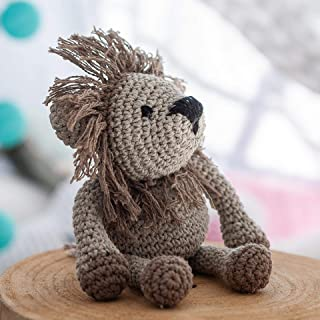 Hoooked Lion Leroy Kit de crochet Marron Taille unique