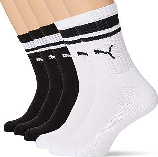 PUMA Unisex_Adult Crew Heritage Stripe Socks (5 Pack)