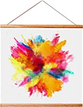 "Landmass 12"" Wide Magnetic Poster Hanger Frame - 12x12 12x16 12x18 12x24 12x36 - Teak Wood Frame for Posters, Prints, Phot..."
