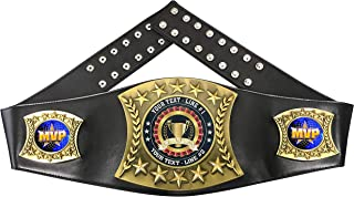 Express Medals Custom MVP Trophy Personalized Championship Leather Belt FCL518