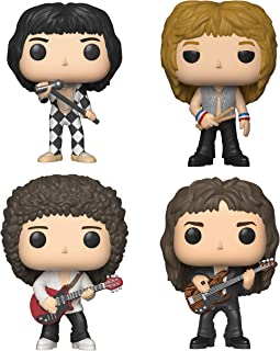 Funko Rocks:Pop! Queen - Roger Taylor,Brian May,John Deacon,Freddie 水星玩具