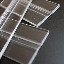 piano tama/ño L//M//S Bisagras de puerta Supertool transparentes 25 mm-300 mm bisagras de pl/ástico acr/ílico resistente para puerta transparente armario y piano 10 unidades