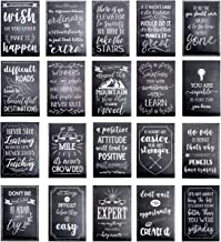 Motivational Posters for Students - 20-Pack Inspirational Posters, Classroom Posters with Inspiring Quotes, Chalkboard Design, Perfect for School Classroom and Office Decoration, 13 x 19 Inches