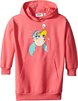 Moschino Kids - Dress w/ Hood and Logo Face Graphic on Front (Little Kids/Big Kids)