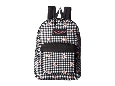 JanSport Ashbury (Gingham Daisy) Backpack Bags