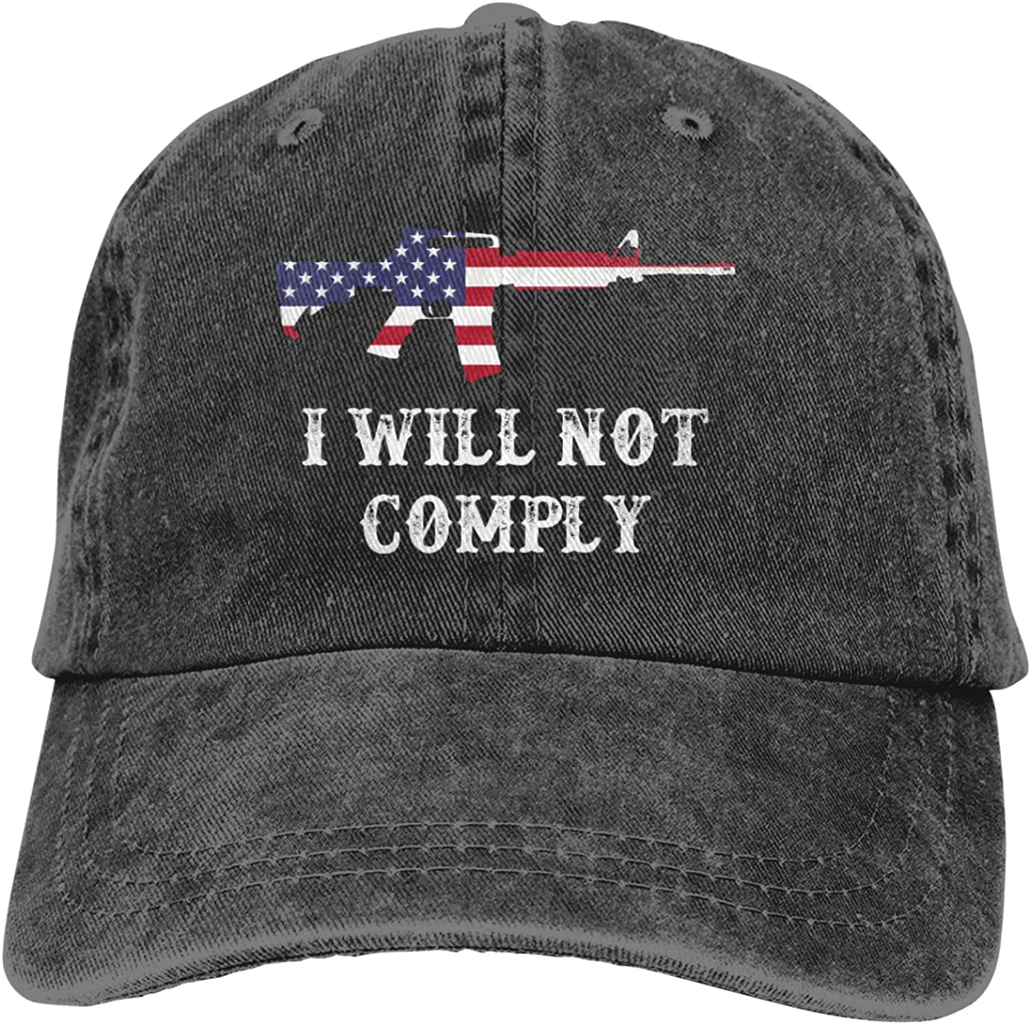 Baseball Cap I Will Not Comply Sports Our shop most popular Excellent Travel Wash Adjustable