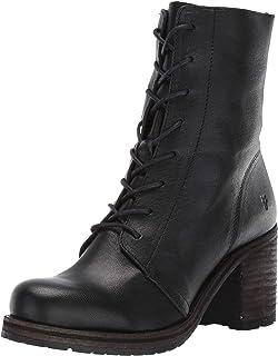 FRYE Women's Karen Combat Boot, Black, 9 M US