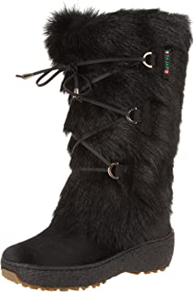 oscar fur boots black