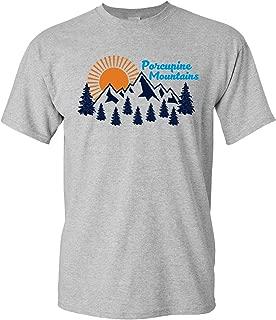 UGP Campus Apparel Porcupine Mountains - Porkies Michigan Michigander Upper Peninsula T Shirt