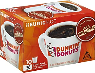 Dunkin' Donuts 100% Colombian Coffee K-Cup Pods, Medium Roast, 60 Count