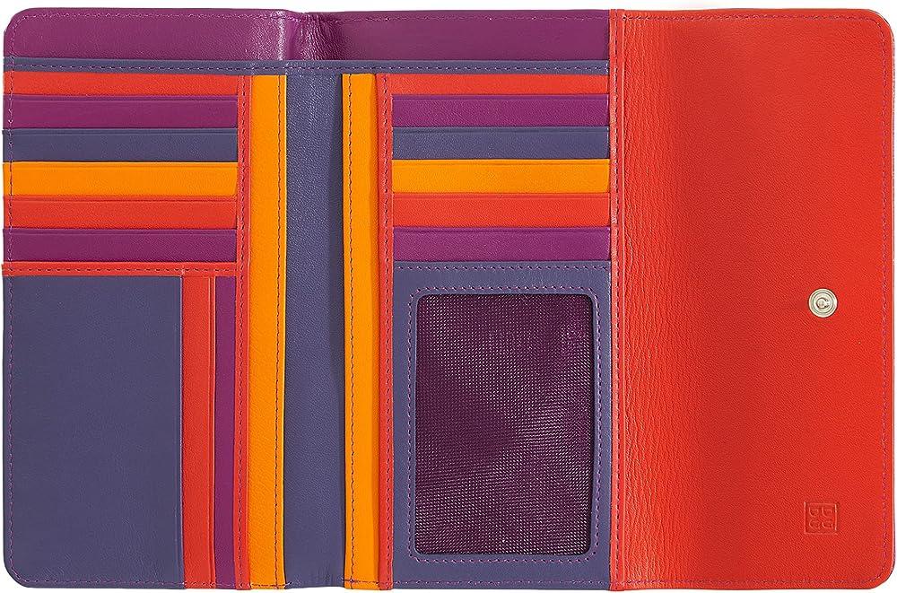 Dudu portafoglio in pelle morbida porta carte di credito con protezione anticlonazione 8031847130065