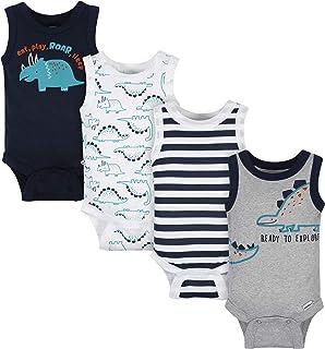 baby-boys 4-pack Sleeveless Onesies Bodysuit