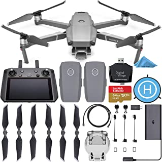 DJI Mavic 2 Pro Drone Quadcopter with Smart Controller with 2 Batteries + SanDisk Extreme 64GB + Landing Pad + Card Reader...