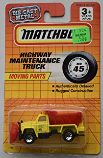 Matchbox Moving Parts Series, Yellow/RED Highway Maintenance Truck