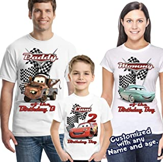02e1fa17 Lightning McQueen Cars Personalized Birthday Shirt - Custom Party Disney