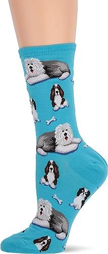 Hot Sox womens Animal Series Novelty Casual Crew Socks
