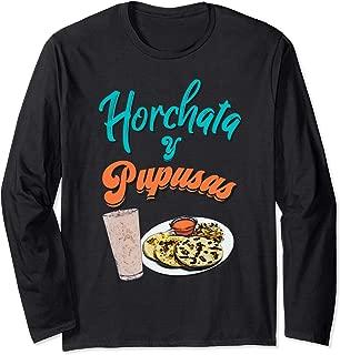 Horchata y Pupusas T-Shirt Camisa El Salvador Shirt Long Sleeve T-Shirt